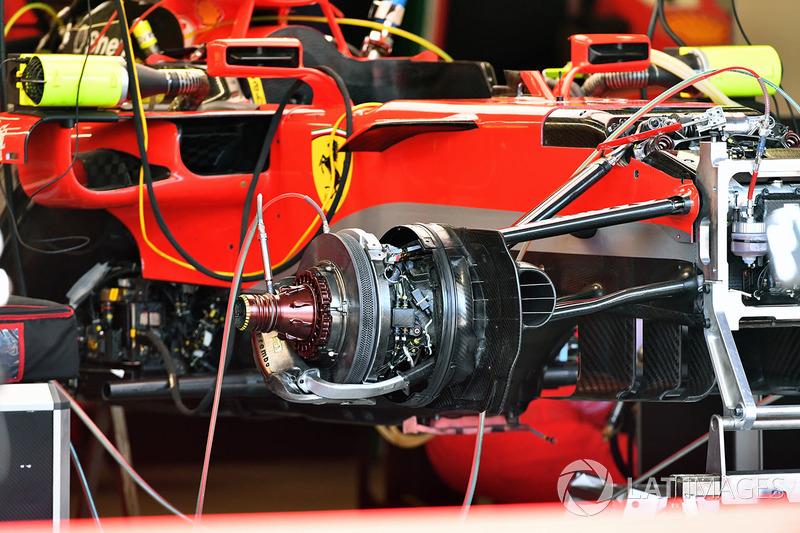 Ferrari SF71H front wheel hub detail