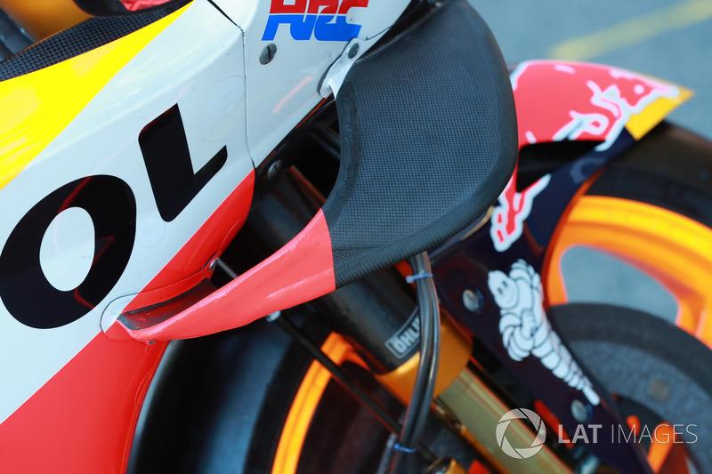 Bike of Marc Marquez, Repsol Honda Team, wing