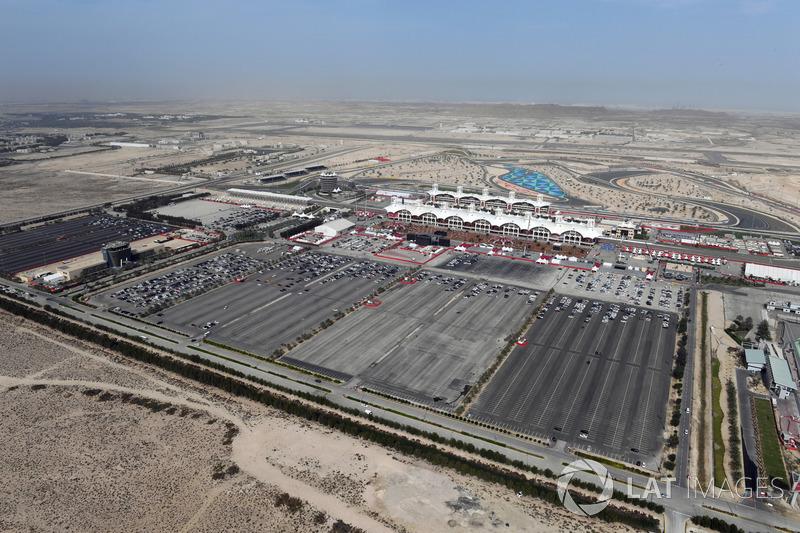 Aerial view of Bahrain International Circuit