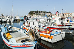 Boats in the marina in Sanary sur Mer