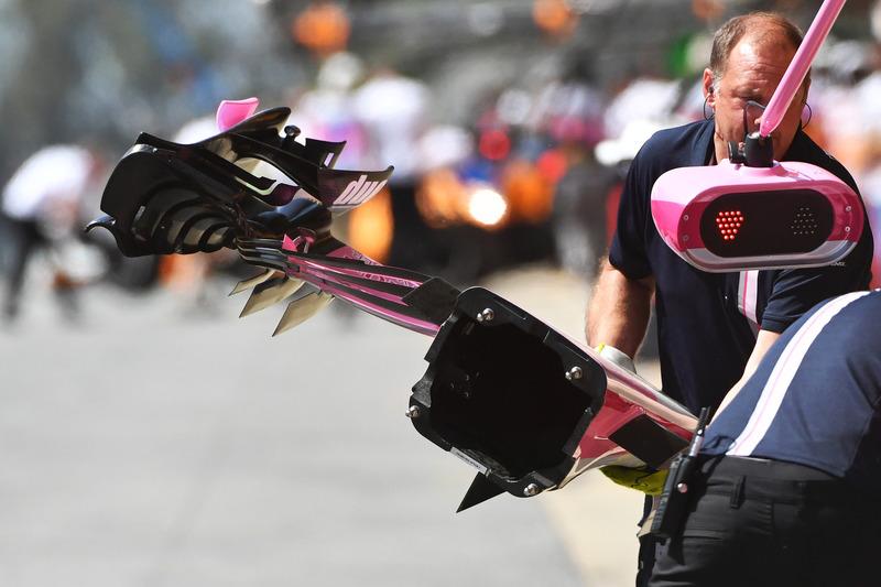 Detalle del frente de Force India VJM11