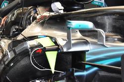 La structure d'impact latérale de la Mercedes