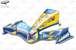 Renault R25 2005 Imola front wing and nose
