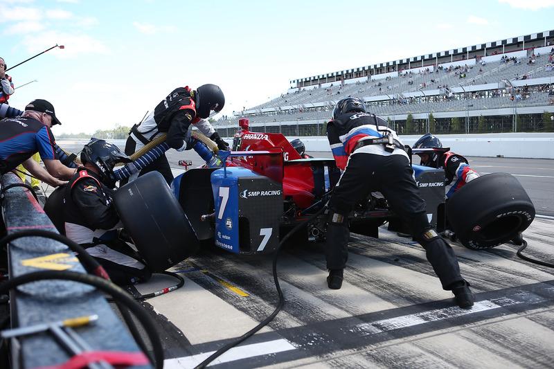 Pit stop di Mikhail Aleshin, Schmidt Peterson Motorsports Honda