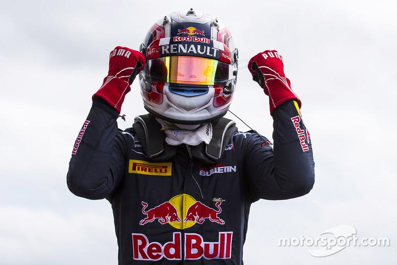 Il vincitore Pierre Gasly, Prema Racing nel parco chiuso