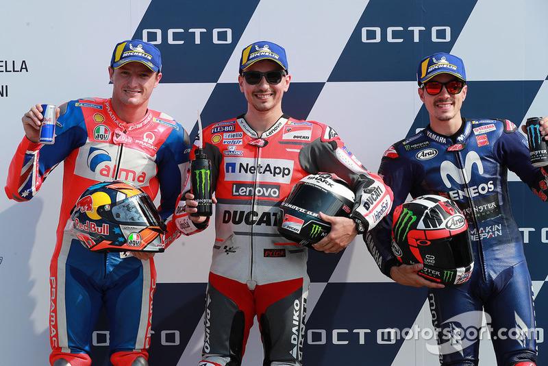 Володар поул-позиції Хорхе Лоренсо, Ducati Team, друге місце Джек Міллер, Pramac Racing, третє місце Маверік Віньялес, Yamaha Factory Racing