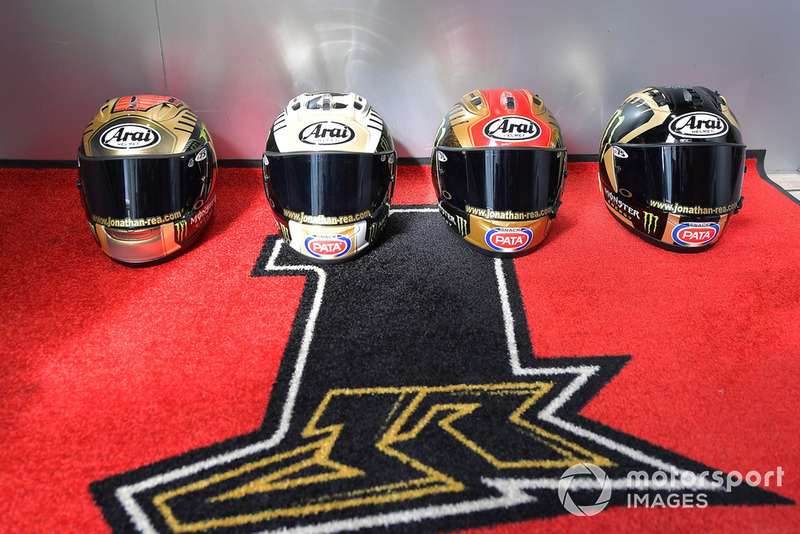 Jonathan Rea, Kawasaki Racing's championship helmets