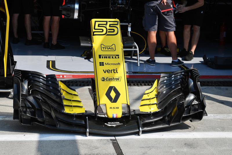 Renault Sport F1 Team RS 18 nariz y alas delanteras