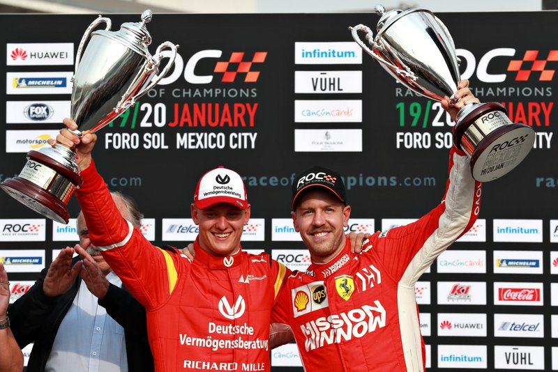 Runner-up ROC Nations Cup: Sebastian Vettel dan Mick Schumacher, Tim Jerman