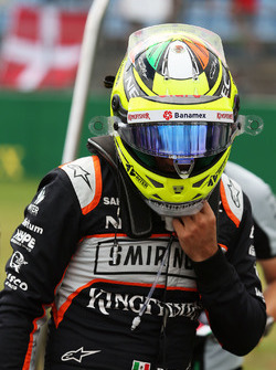 Sergio Perez, Sahara Force India F1 op de startopstelling