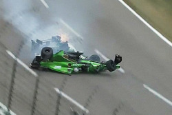 Конор Дейлі, Dale Coyne Racing Honda та Джозеф Ньюгарден, Ed Carpenter Racing Chevrolet in huge cras