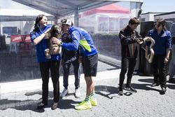 Aleix Espargaro, Team Suzuki Ecstar MotoGP touching noses with a Koala