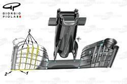 زعانف الجناح الامامي لسيارة مكلارين إم.بي4-31