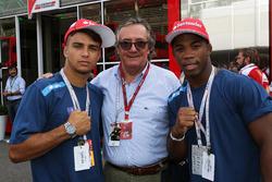 Fabio Basile, Olympisch kampioen judo Rio 2016 met Giancarlo Minardi en Frank Chamizo Marquez, bronzen medaillewinnaar worstelen Rio 2016