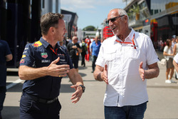 Christian Horner, Red Bull Racing Team Principal and Dietrich Mateschitz, CEO and Founder of Red Bull
