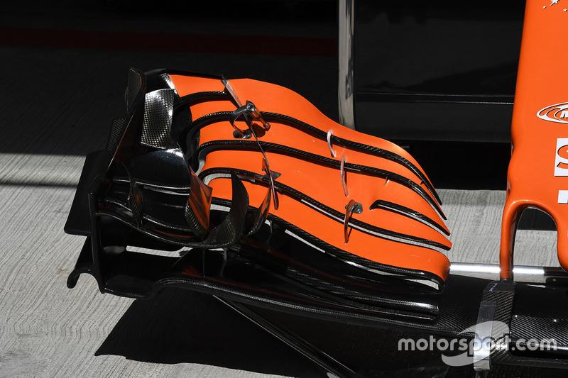 McLaren MCL32 detalle ala delantera