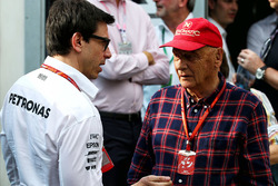 Toto Wolff, Mercedes AMG con Niki Lauda, Mercedes