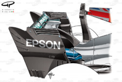 Mercedes W08 rear wing, Italian GP