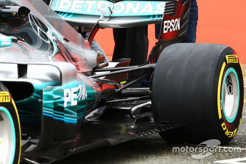 Mercedes AMG F1 W08 rear detail