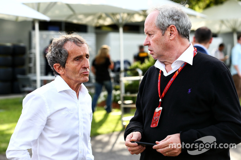 Alain Prost, Renault Sport F1 Team RS17, Berater mit Jerome Stoll, Renault Sport F1 Präsident