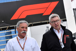 Chase Carey, CEO, Formula One Group ve Ross Brawn, Formula One Motorsporları Direktörü