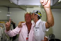 Jenson Button, Brawn GP and an emotional John Button celebrate