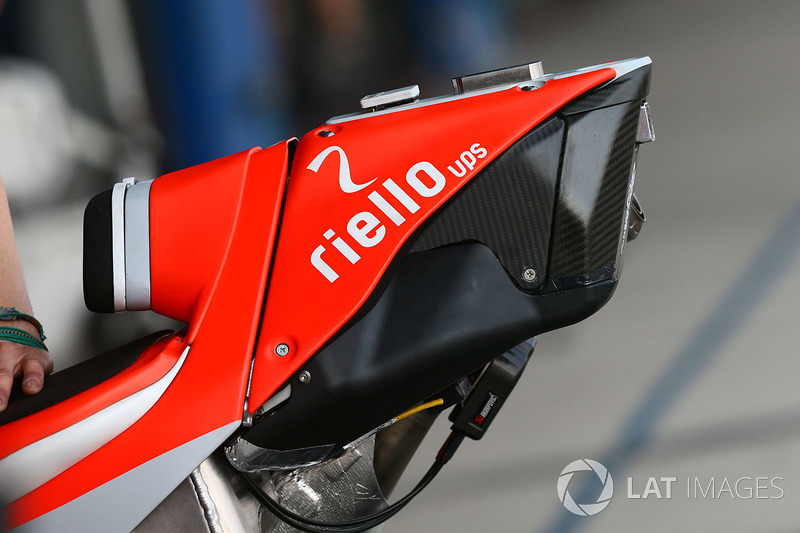 Ducati Team, dettaglio dell'estremità posteriore