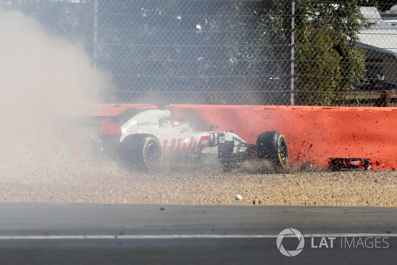 Crash of Romain Grosjean, Haas F1 Team VF-18