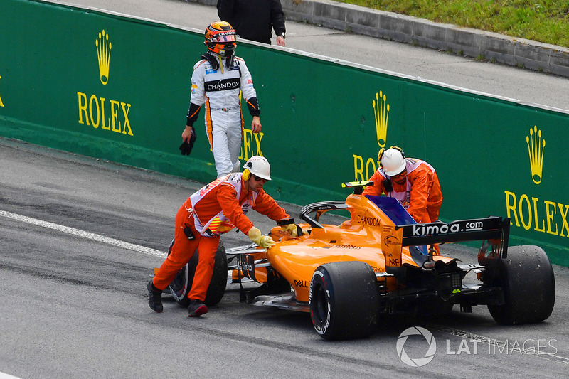 Retiro de Stoffel Vandoorne, McLaren MCL33