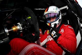 Sebastian Vettel prepares to drive