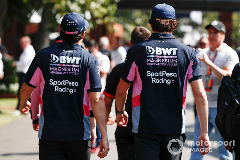 Sergio Perez, Racing Point, y Lance Stroll, Racing Point