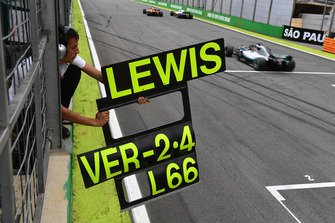 Pitbord van Lewis Hamilton, Mercedes-AMG F1 W09