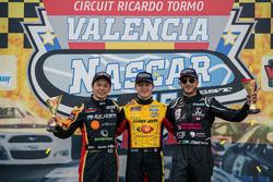 Rookie Podium: Race winner Florian Venturi, GO Fas Racing Ford, second place Kenko Miura, Alex Caffi Motorsport Toyota, third place Nicholas Risitano, Racers Motorsport Ford