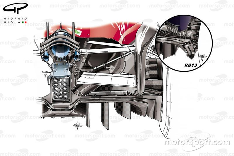 Ferrari SF70H new diffuser, Abu Dhabi