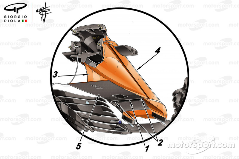 McLaren MCL33, ala anteriore GP di Spagna