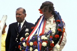 Podium: race winner Jochen Rindt, Lotus