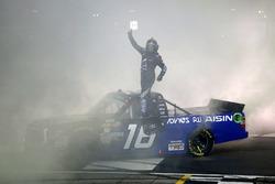Brett Moffitt, Hattori Racing Enterprises, AISIN Atlanta Toyota Tundra celebrates