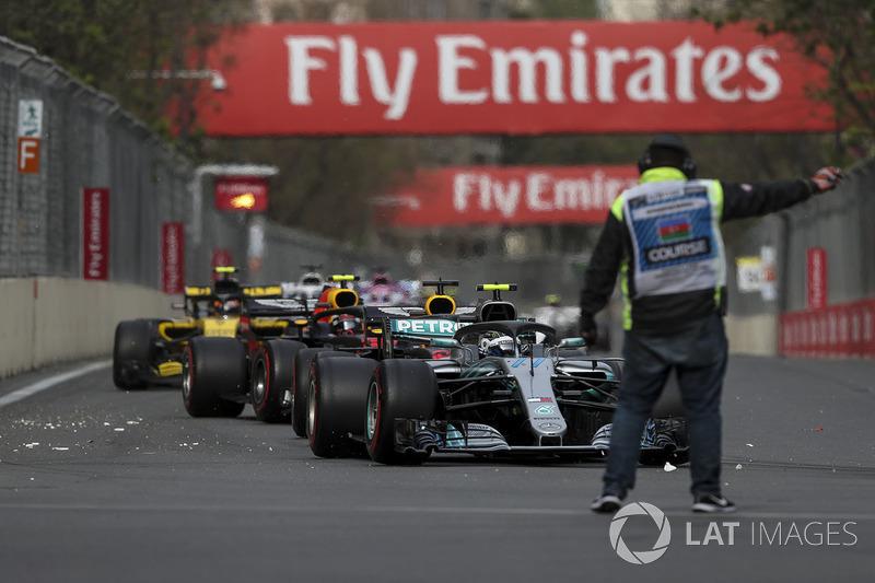 Valtteri Bottas, Mercedes-AMG F1 W09 EQ Power+ and marshal