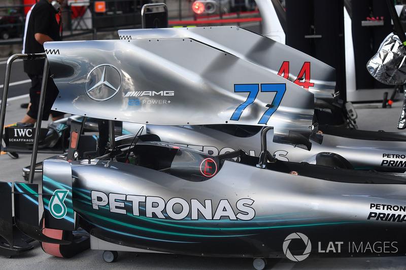 Кузовные панели двигателя Mercedes F1 W09