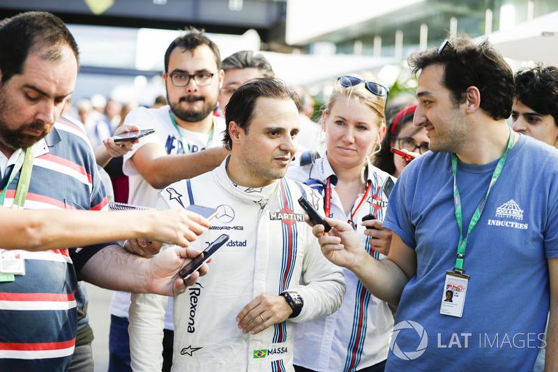 Felipe Massa, Williams, habla tras su última carrera como local