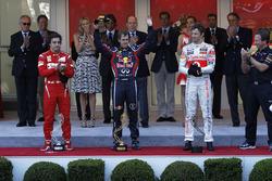 Podiium: 1. Sebastian Vettel, Red Bull; 2. Fernando Alonso, Ferrari; 3. Jenson Button, McLaren