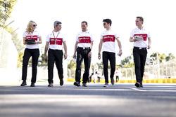 Charles Leclerc, Alfa Romeo Sauber F1 Team op het circuit