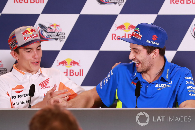 Press Conference: Marc Marquez, Repsol Honda Team, Andrea Iannone, Team Suzuki MotoGP