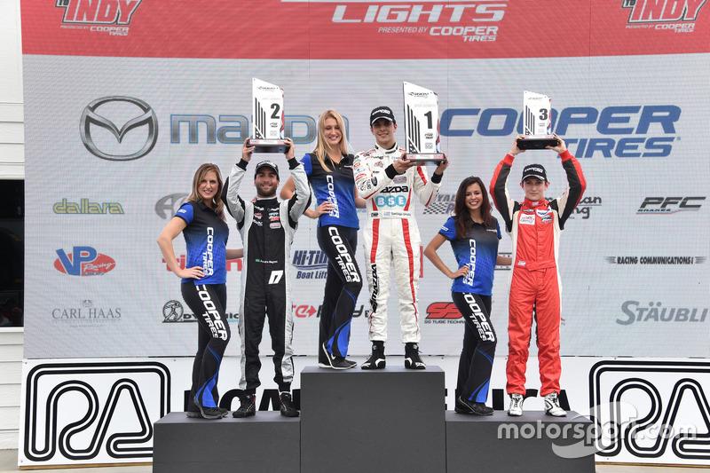 Podyum: 2. André Negrao, Schmidt Peterson Motorsports, 1. Santiago Urrutia, Schmidt Peterson Motorsports, 3. Zach Veach, Belardi Auto Racing