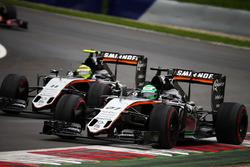 Nico Hulkenberg, Sahara Force India F1 VJM09 and team mate Sergio Perez, Sahara Force India F1 VJM09