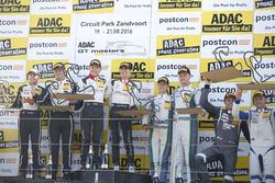 Junior und Trophypdium: Sieger #29 Montaplast by Land-Motorsport, Audi R8 LMS: Connor De Phillippi,