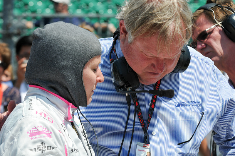 Pippa Mann, Dale Coyne Racing Honda talking bersama Dale Coyne