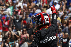 Will Power, Team Penske Chevrolet, celebrates winning the Pit Stop Competition