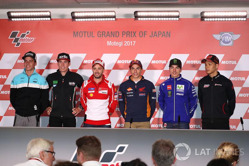 Joan Mir, Leopard Racing, Aleix Espargaro, Aprilia Racing Team Gresini, Andrea Dovizioso, Ducati Tea