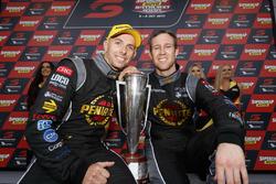 Race winners David Reynolds, Luke Youlden, Erebus Motorsport Holden with the trophy